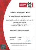 Certificado Huella Carbono