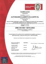 Certificado ISO 13816:2003