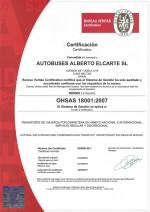 Certificado ISO 18001:2007