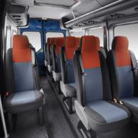 Interior del microbus 16 plazas