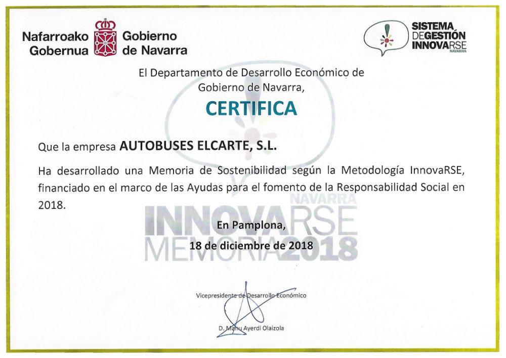 Certificado Innnovarse 2018
